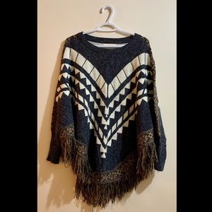 Cute and Comfy Poncho NEVER WORN!!